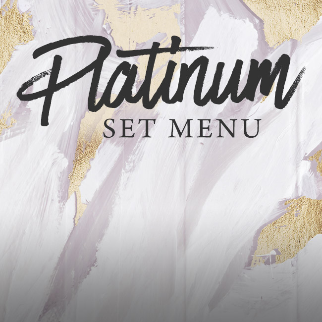 Platinum set menu at The White Hart